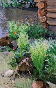 Grigory Gurkin - Ferns by the Pond