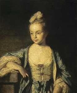 Joshua Reynolds - A Little Girl (possibly Lady Frances Scott, later Lady Douglas)