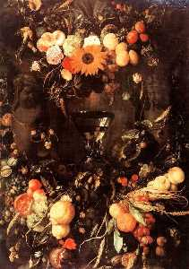 Jan Davidszoon De Heem - Fruits and Flowers with Wine Glass