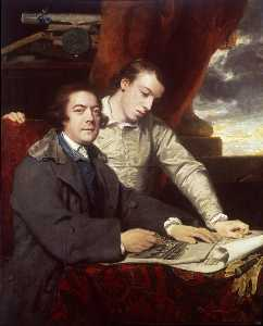Joshua Reynolds - James Paine Architect and His Son James