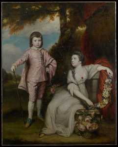 Joshua Reynolds - George Capel, Viscount Malden (1757 1839), and Lady Elizabeth Capel (1755 1834)