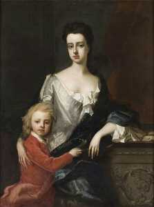 Michael Dahl - Lady Mary Robartes (d.1741), with Her Son Henry Robartes (c.1695–1741), Later 3rd Earl of Radnor