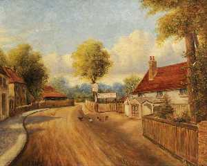 Ernest A. L. Ham - At Norwood Green, Southall (Bisco School and 'The Plough Inn')