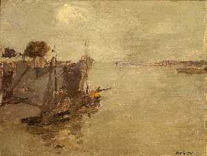 Frank Edwin Scott - Honfleur Fishing Boats no. 2