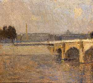 Frank Edwin Scott - Seine at Paris, Pont de la Concorde
