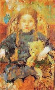Olga Bozna Ska - Girl with a Teddy Bear