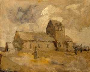 Frank Edwin Scott - Village Church and Cemetery, Brittany