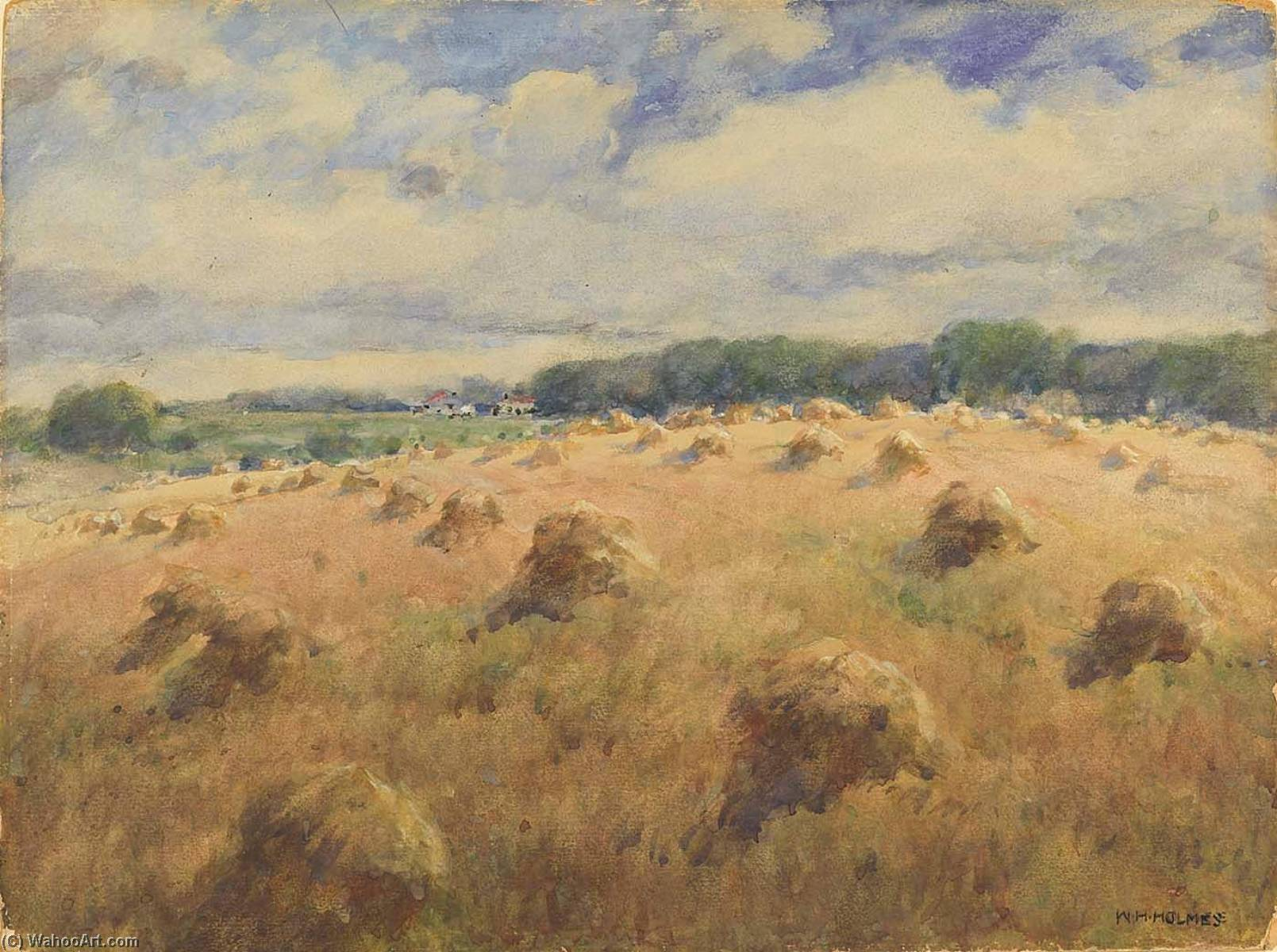 Maryland Wheat Fields by William Henry Holmes (1846-1933, United States) | WahooArt.com