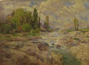 William Henry Holmes - The Normal Rock Creek