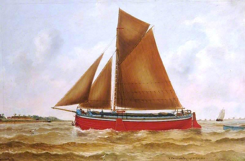 'Ethel' of Hull, Oil On Canvas by Ruben Chappell