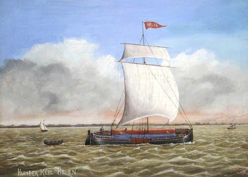 Humber Keel, 'Helen', Oil On Canvas by Ruben Chappell