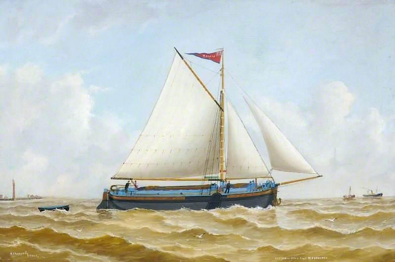 'Lilian' of Hull, Oil On Canvas by Ruben Chappell