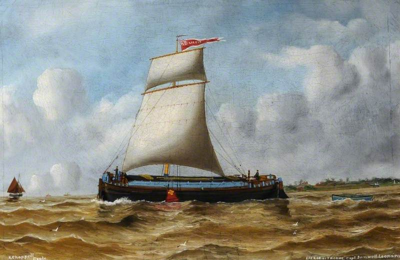 The Keel `Lizzie` of Thorne, 1904 by Ruben Chappell | WahooArt.com