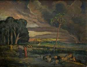 Roger Eliot Fry - Landscape with Saint George and the Dragon