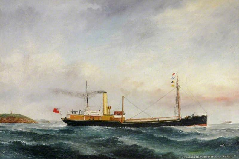 SS 'Glenrose' of Newcastle, Oil On Canvas by Ruben Chappell