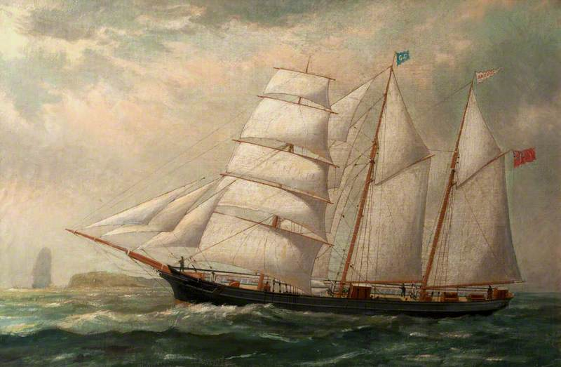 The Schooner `Janie Gough` by Ruben Chappell | Oil Painting | WahooArt.com