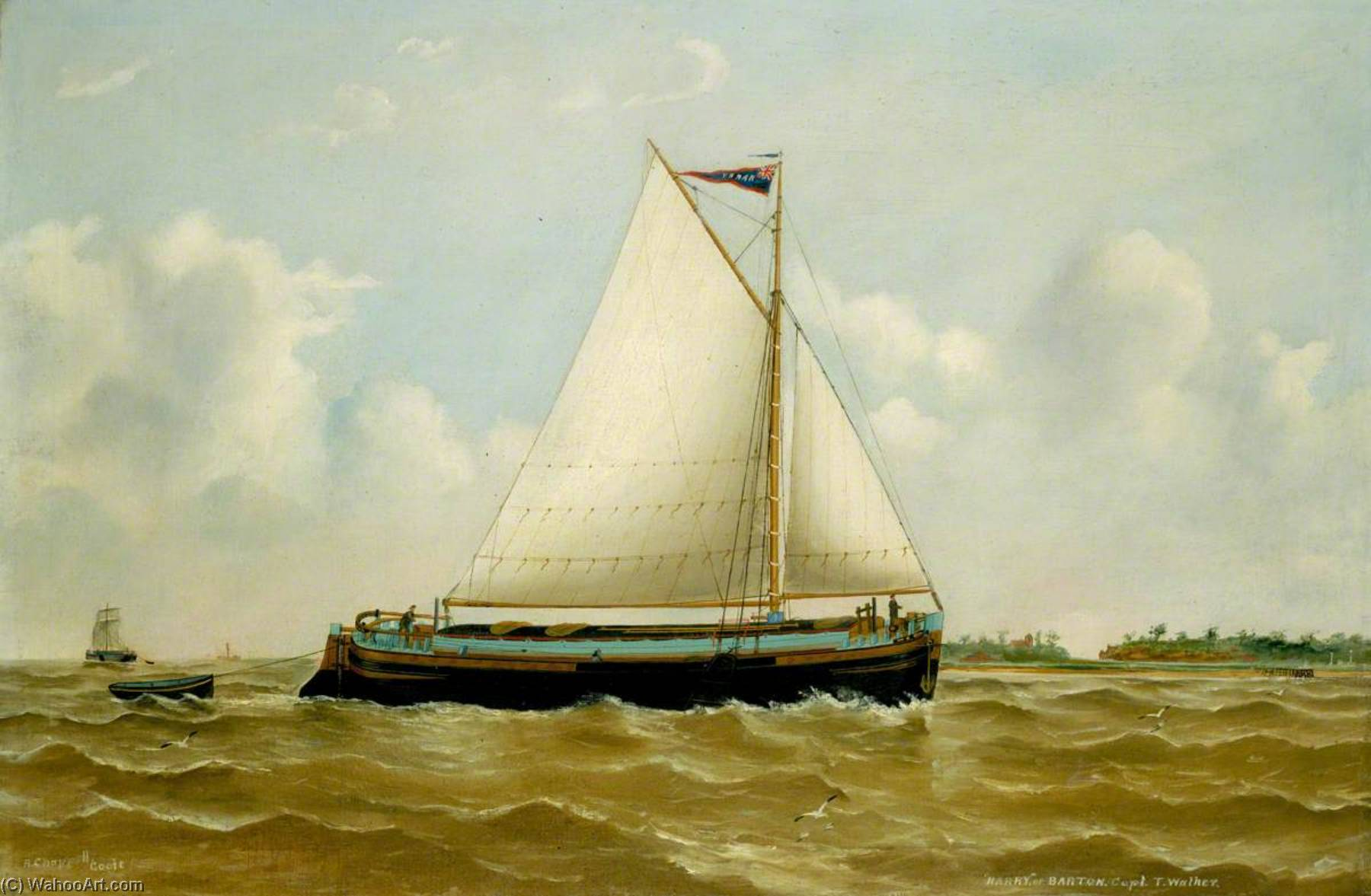 The Humber Sloop 'Harry', Oil On Canvas by Ruben Chappell