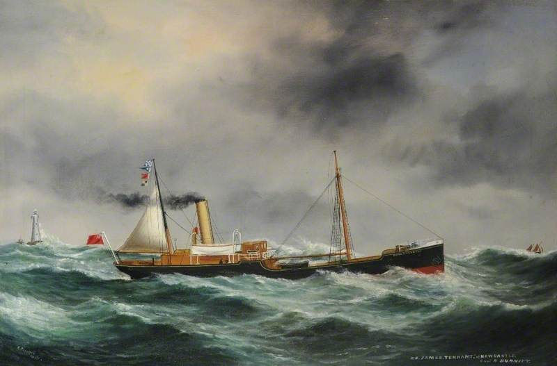 SS 'James Tennant' of Newcastle (Foul Weather), Oil On Canvas by Ruben Chappell