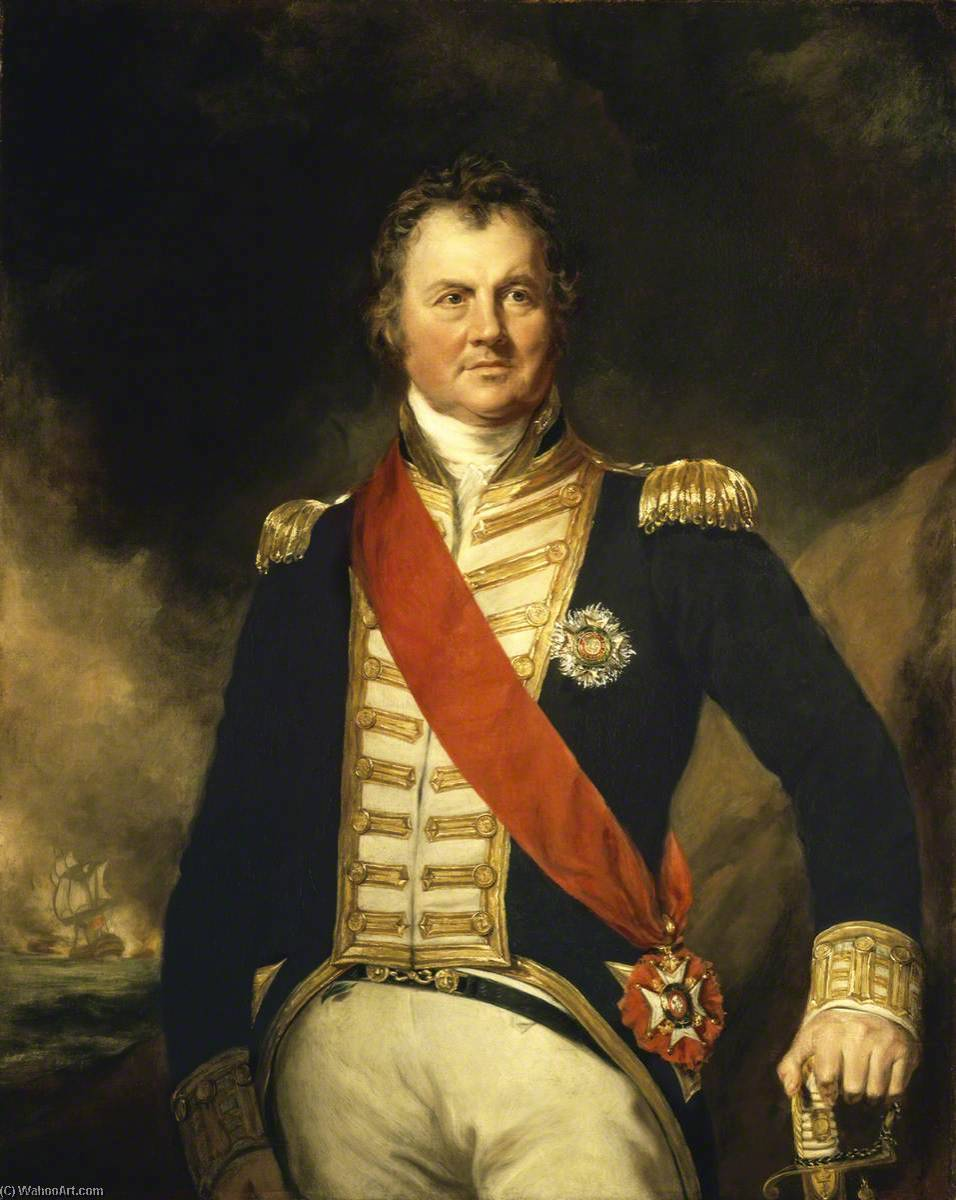 Admiral Sir Edward Thornborough (1754–1834), 1821 by Samuel Lane | Museum Quality Copies Samuel Lane | WahooArt.com