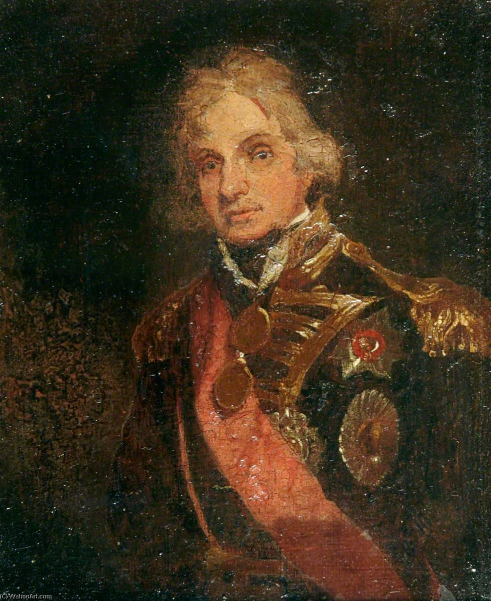 Order Paintings Reproductions | Horatio Nelson (1758–1805) by Samuel Lane | WahooArt.com