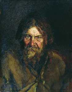 Vasily Maximov - Head of a Peasant