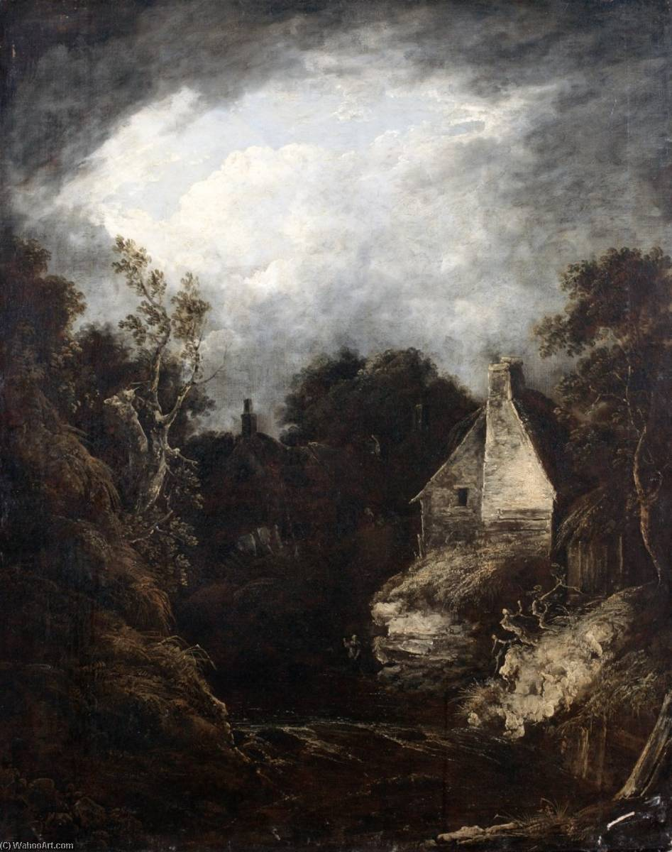 Chippenham Mill, Wiltshire, Oil On Canvas by Benjamin Barker Ii