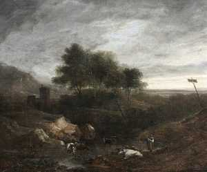 Benjamin Barker Ii - Landscape with Cattle