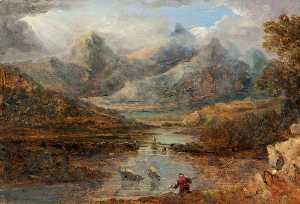 Benjamin Barker Ii - View of Snowdon from Capel Curig