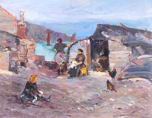 William Henry Charlton - Family in a Harbour
