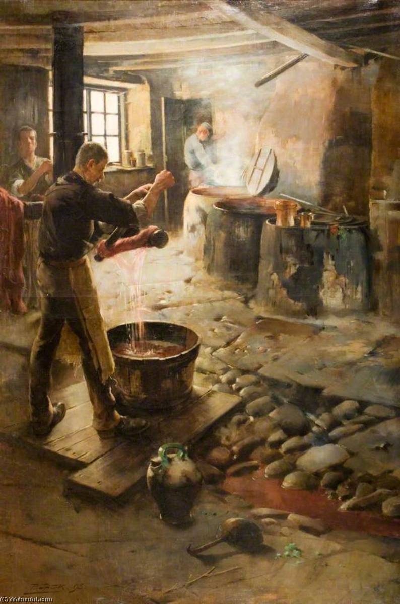 The Swedish Dyehouse, Oil On Canvas by Richard Jack (1866-1952, United Kingdom)
