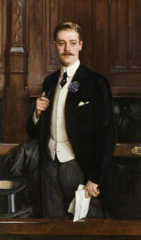 The Honourable Thomas Charles Reginald Robartes (1880–1915), MP, Oil On Canvas by Richard Jack (1866-1952, United Kingdom)
