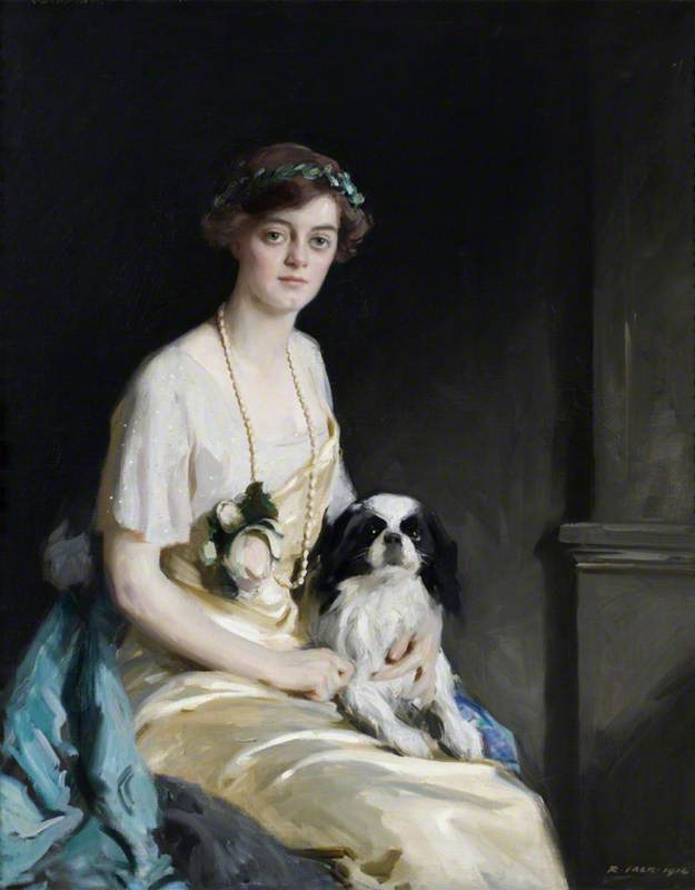 The Honourable Edith Violet Kathleen Agar Robartes (1888–1965), Oil On Canvas by Richard Jack (1866-1952, United Kingdom)