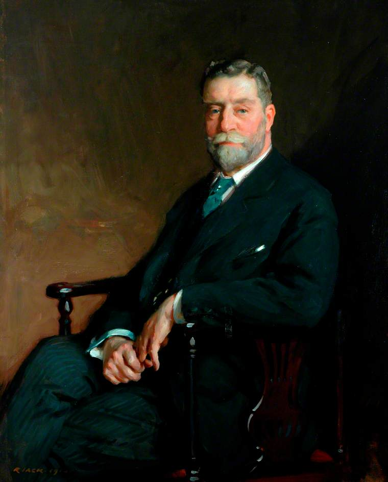 Sir John C. Horsfall, Bt, Chairman of the County Council of the West Riding of Yorkshire (1910–1916), 1914 by Richard Jack (1866-1952, United Kingdom) | Museum Quality Reproductions | WahooArt.com