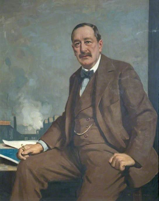 Charles Paxton Markham (1865–1926), Managing Director of Staveley Coal Iron Co. (1888), Chairman (1903), 1920 by Richard Jack (1866-1952, United Kingdom) | Museum Quality Reproductions | WahooArt.com