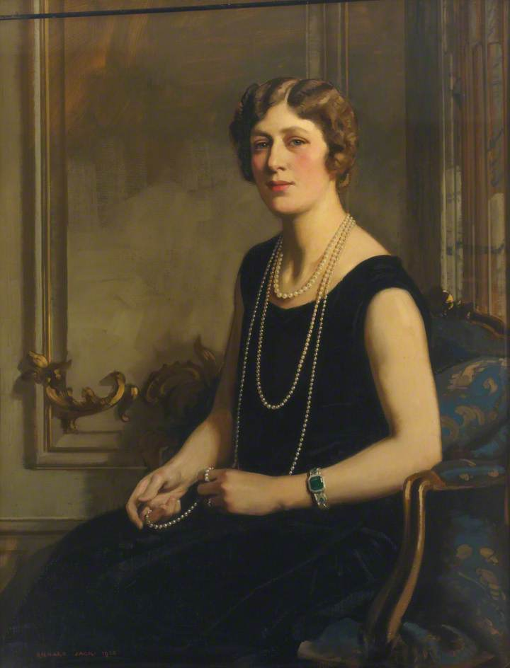 Mary, Princess Royal and Countess of Harewood (1897–1965), Oil On Canvas by Richard Jack (1866-1952, United Kingdom)