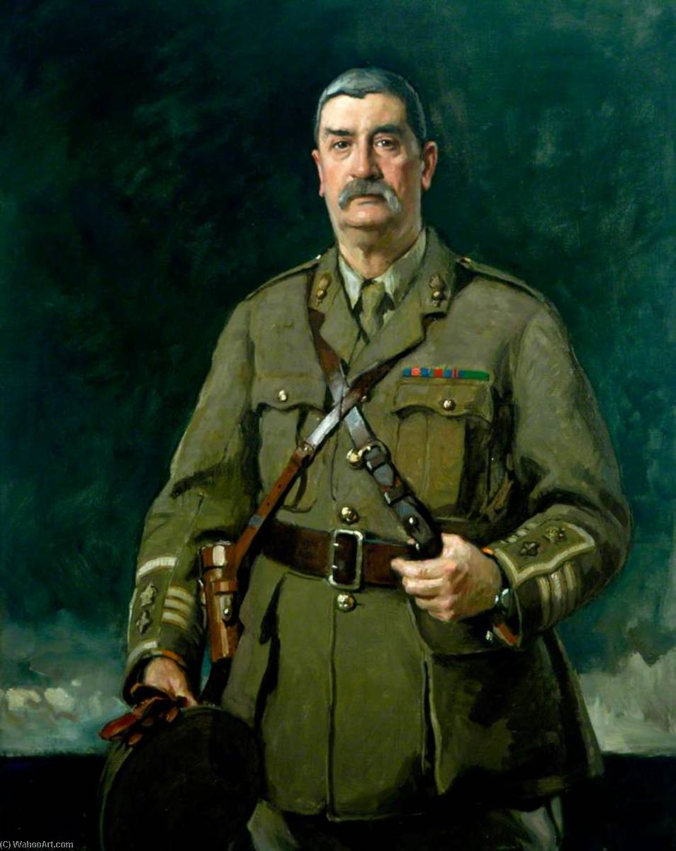 Lieutenant Colonel L. Robson, CMG, DSO, Oil On Canvas by Richard Jack (1866-1952, United Kingdom)