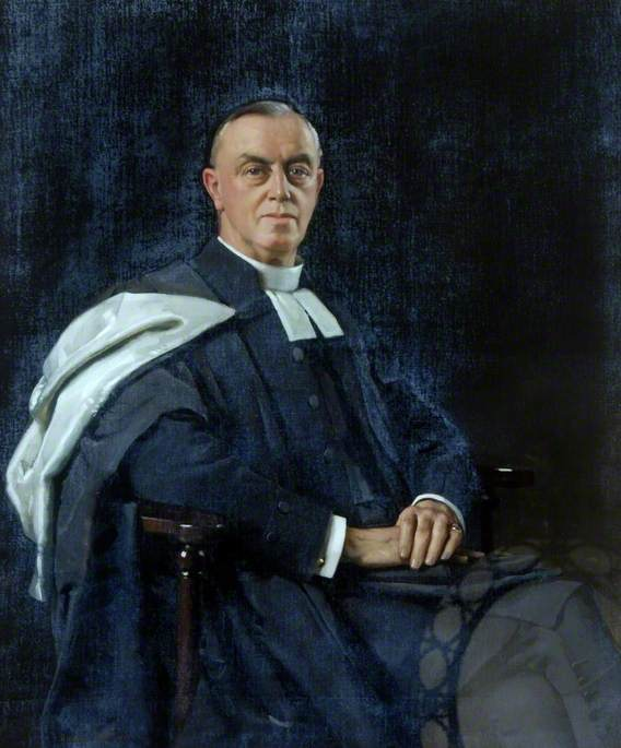 George Sandford, MA, Archdeacon of Doncaster, Oil On Canvas by Richard Jack (1866-1952, United Kingdom)