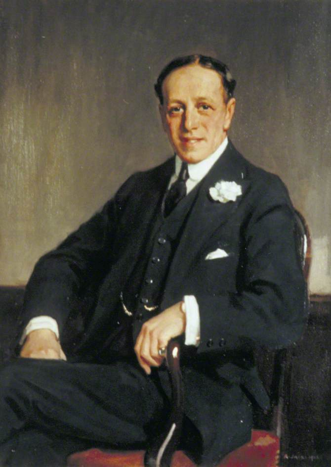 Sir Percy Coleman Simmons (1875–1939), Mayor, 1922 by Richard Jack (1866-1952, United Kingdom) | Painting Copy | WahooArt.com