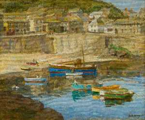 Harold Harvey - Mousehole Harbour