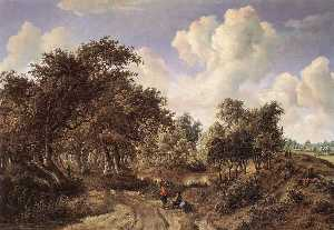 Meyndert Hobbema - A Wooded Landscape