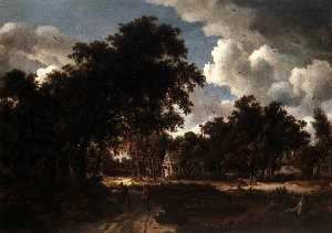 Meyndert Hobbema - Wooded Landscape