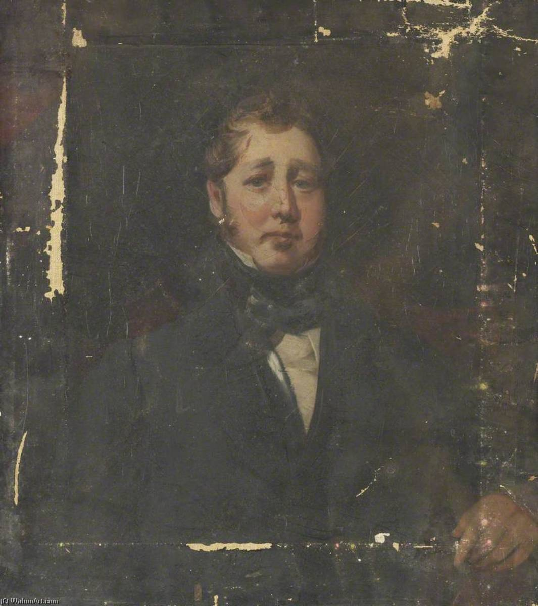 Portrait of a Man, 1850 by George Sheffield Senior | Oil Painting | WahooArt.com