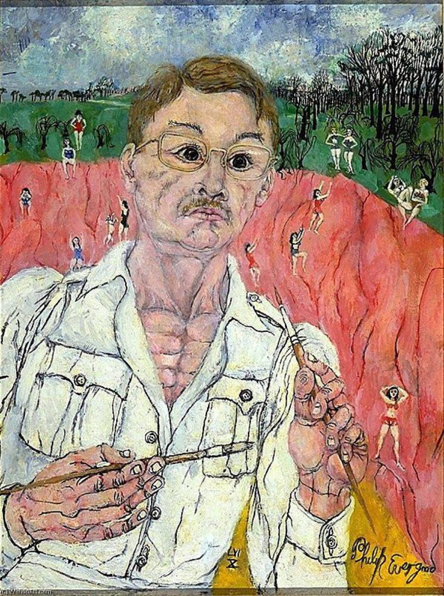 Self Portrait ( We are Such Stuff as Dreams are Made on ), Oil by Philip Evergood (1901-1973)
