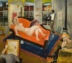 Philip Evergood - Nude by the El