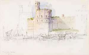 George Elbert Burr - Caernarvon Castle