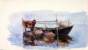 George Elbert Burr - Untitled Fishing Boat