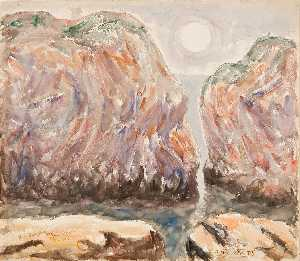 Abraham Walkowitz - Rocks, Sun, and Water