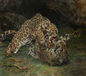 William Walls - Jaguars at Play