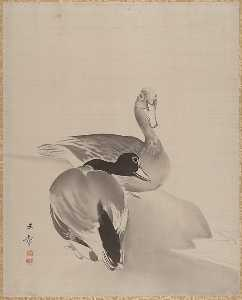 Kawabata Gyokushō - Pair of Ducks
