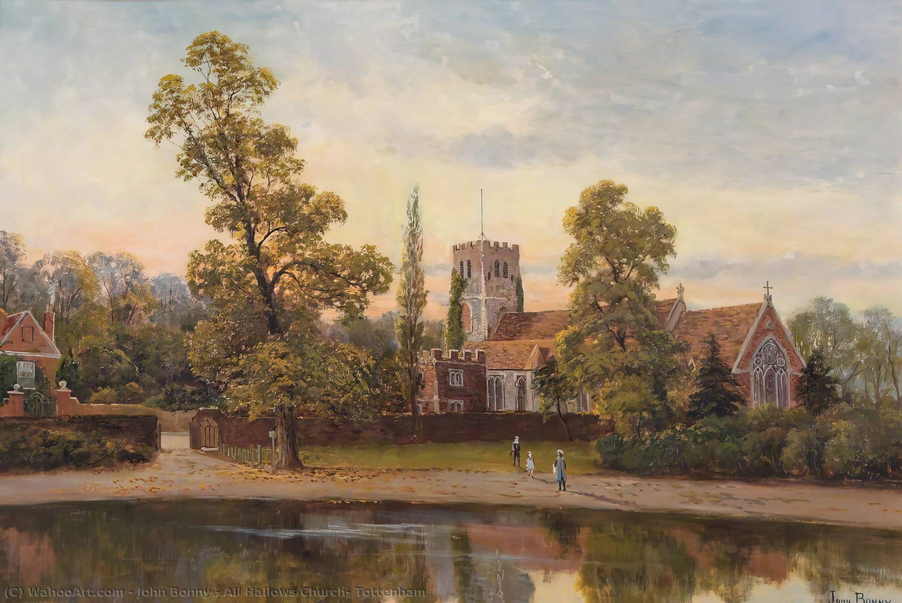All Hallows Church, Tottenham, 1890 by John Bonny | WahooArt.com